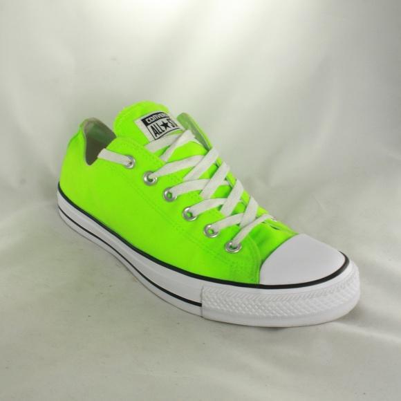 bdb9a35bac3 Converse Shoes - NEW CONVERSE Lime Green Low Tops Sz 8 Men Sz 10 Wo